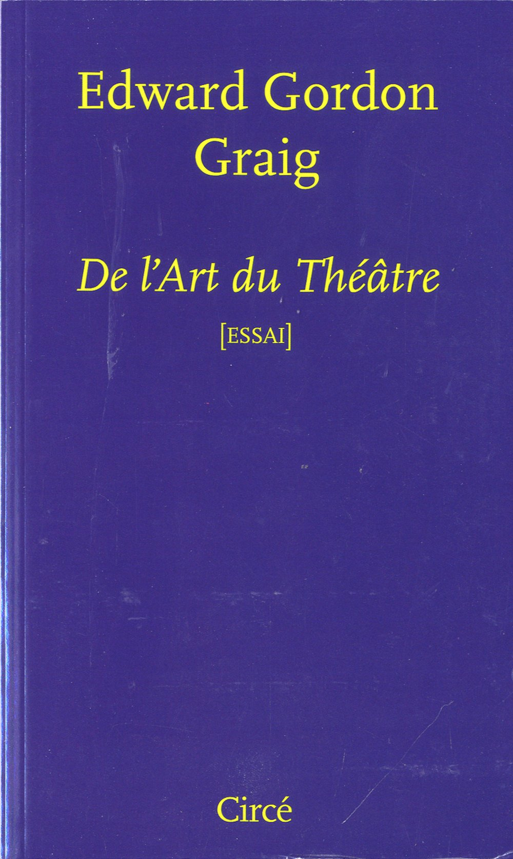 De l'art du théâtre Gordon Graig