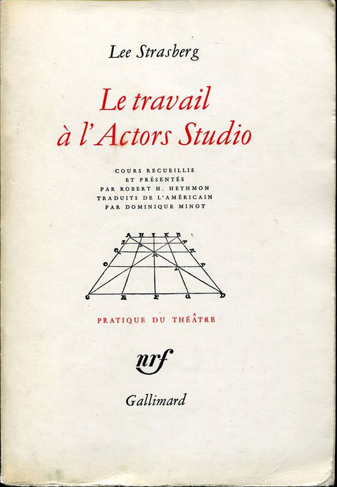 Le travail à l'Actors Studio Lee Strasberg